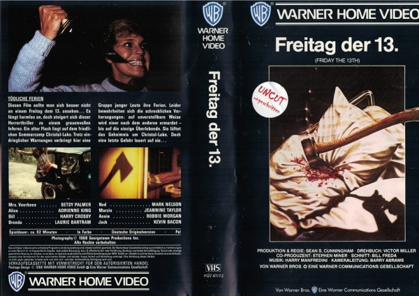 Freitag der 13. - Friday the 13th - unrated (VK EA ohne FSK)