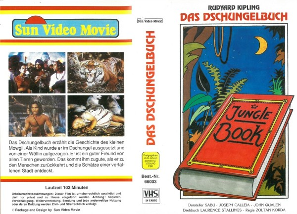 Jungle Book - Das Dschungelbuch (Sun Video Movie)