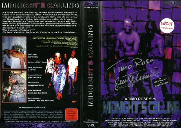 Midnight´s Calling - Project X (Amateurfilm) Wendecover - mit Autogrammen! 2