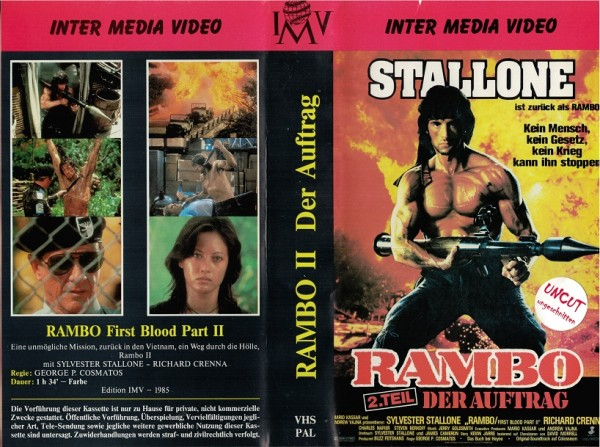 Rambo 2 - Der Auftrag (IMV Inter Media Video)