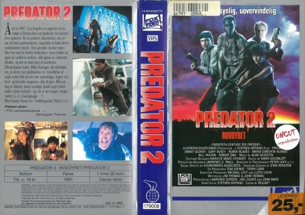 Predator 2 (Fox Video DK Import)