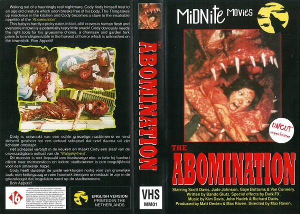 Abomination, The (Midnite Movies NL Import)