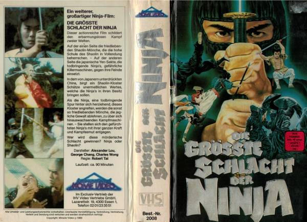 grösste Schlacht der Ninja, Die (Hartbox)