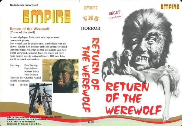 Return of the Werewolf - Todeskralle des grausamen Wolfes (Empire Video NL Import)