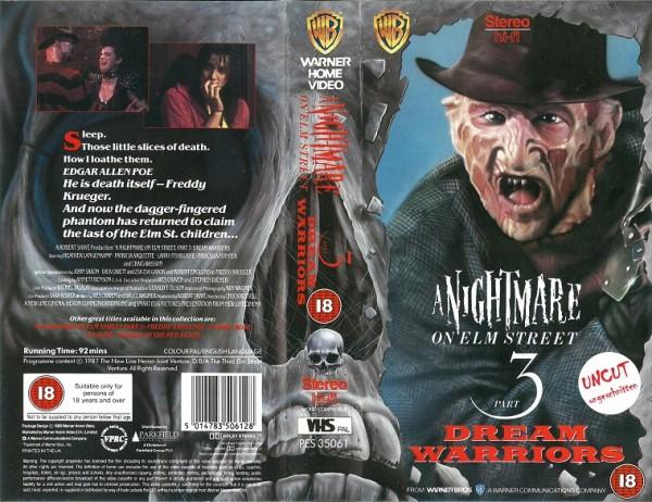 Nightmare on Elm Street 3 - Dream Warriors (Warner Home Video UK Import)