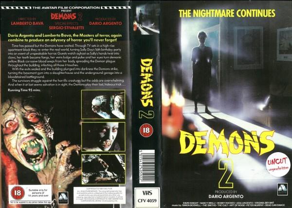 Demons 2 - Dämonen (Avatar Video UK Import)
