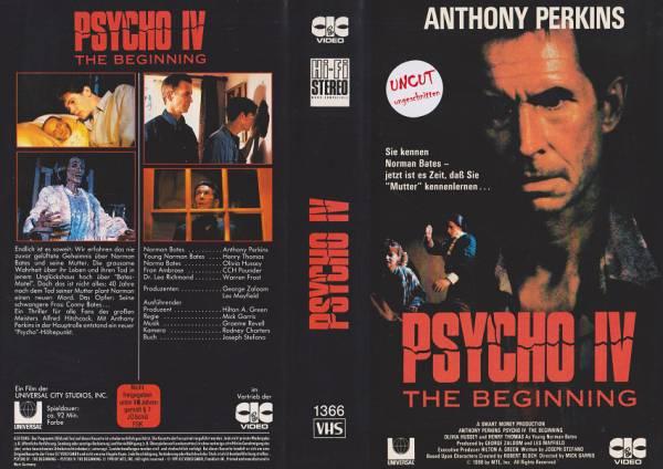 Psycho IV - The Beginning