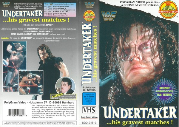 Undertaker - his gravest matches (WWF Wrestling)