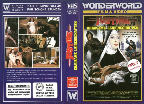 Justine - Grausame Leidenschaften (Wonderworld Video)