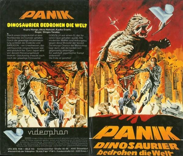 Panik - Dinosaurier bedrohen die Welt - Godzilla (Videophon Hartbox)