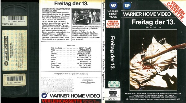 Freitag der 13. - Friday the 13th - unrated (VL EA)