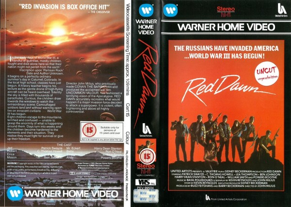Red Dawn - Die rote Flut (Warner Home Video UK Import)