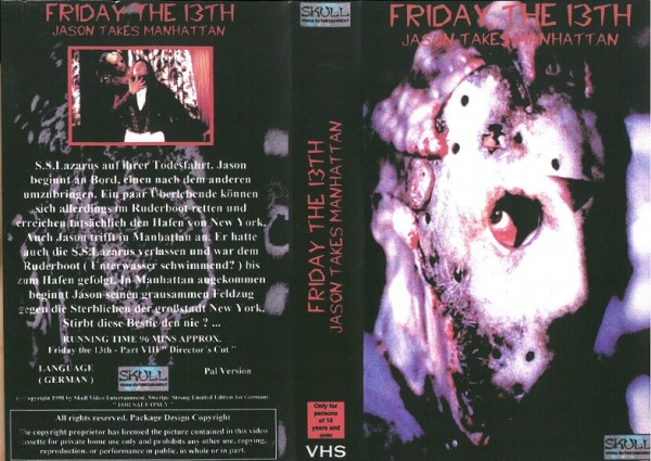 Friday the 13th - Jason takes Manhattan - Freitag der 13. Teil 8 - Todesfalle Manhattan (Skull Video)