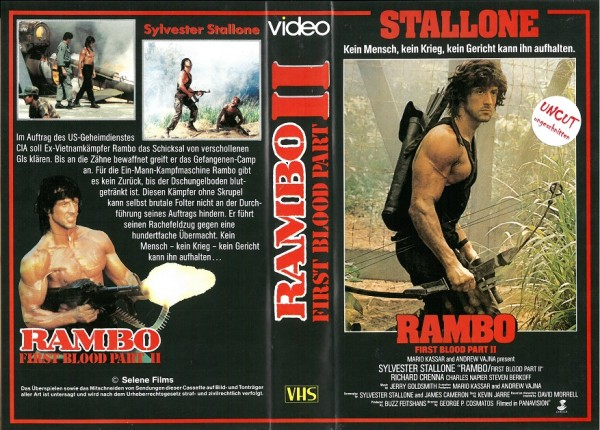Rambo 2 - Der Auftrag (Selene Video) - Fehlkopie - NEUWARE!