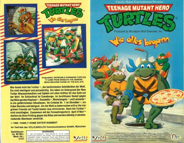 Teenage Mutant Hero Turtles- Wie alles begann (TV Serie) Hartbox
