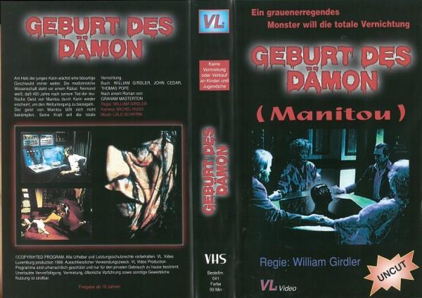 Geburt des Dämon - Manitou (VL Video)