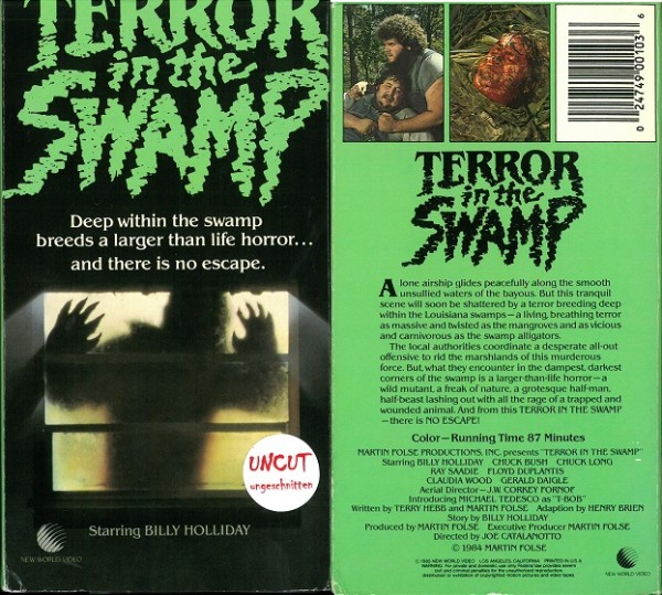 Terror in the swamp - Sumpf des Grauens (New World Video US Import Pappschuber)