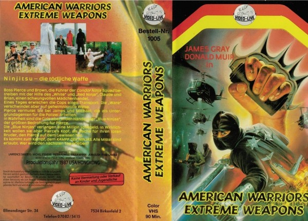 American Warriors Extreme Weapons (Einleger)