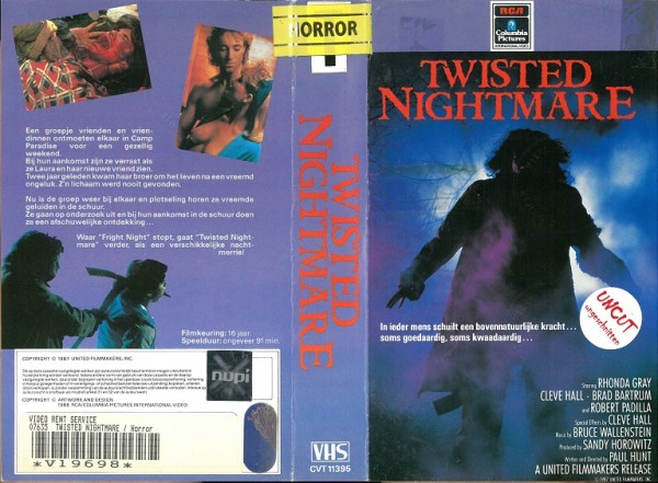 Twisted Nightmare - Reise ins Grauen (RCA NL Import)