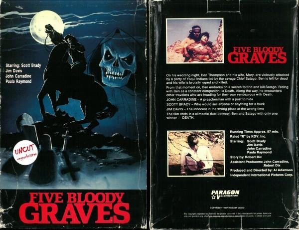 Five bloody graves - 5 blutige Gräber (Paragon Video US Import Grossbox)