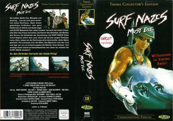 Surf Nazis Must Die - Wendecover (Troma Video)
