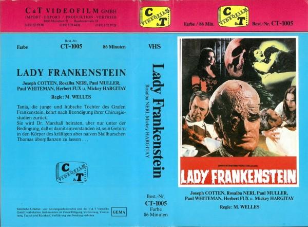 Lady Frankenstein (C & T Video blau)