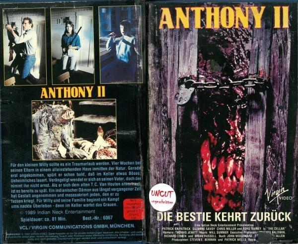 Anthony 2 - Die Bestie kehrt zurück - The Cellar (Hartbox)