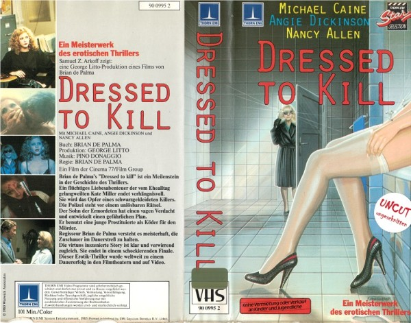 Dressed to Kill - Unrated (Thorn Emi klein)