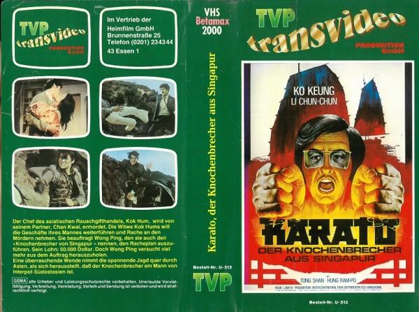Karato - Der Knochenbrecher aus Singapur (TVP Transvideo) Video 2000 !