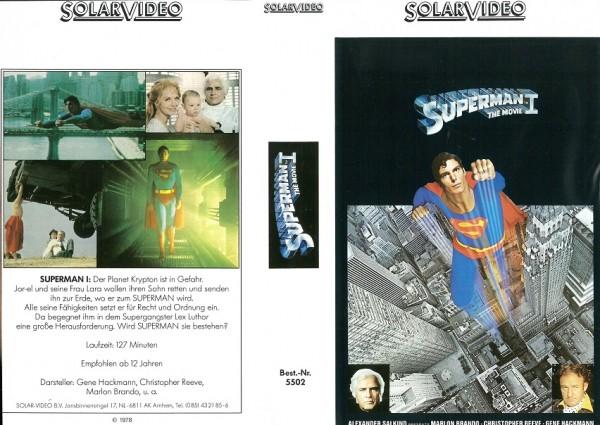 Superman - Der Film (Kinosynchro) sehr seltener Einleger!
