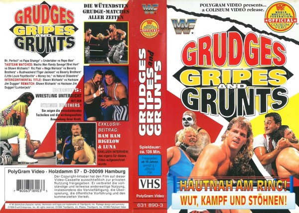 Grudges Gripes and Grunts (WWF Wrestling)