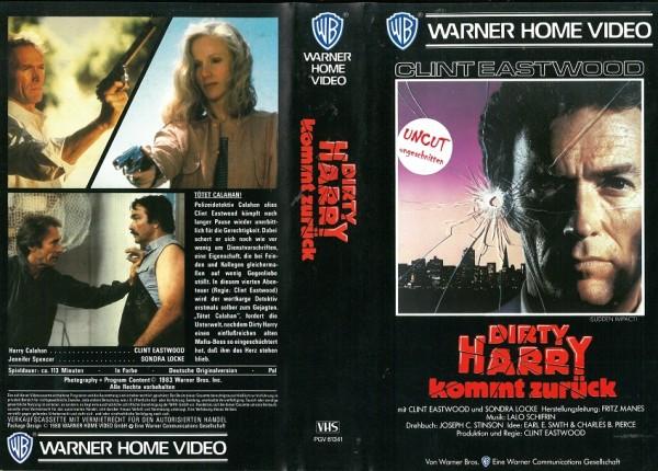 Dirty Harry 4 - Dirty Harry kommt zurück (VK NA)