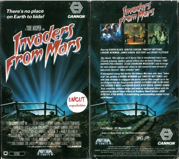 Invaders from Mars - Invasion vom Mars (Cannon Films US Import - Pappschuber)