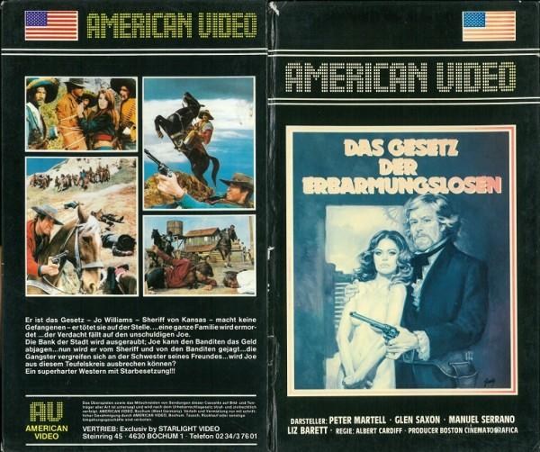 Gesetz der Erbarmungslosen, Das (American Video Hartbox)