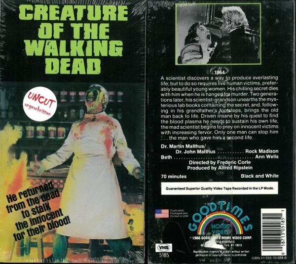 Creature of the walking dead (US Pappschuber)  NEU, OVP
