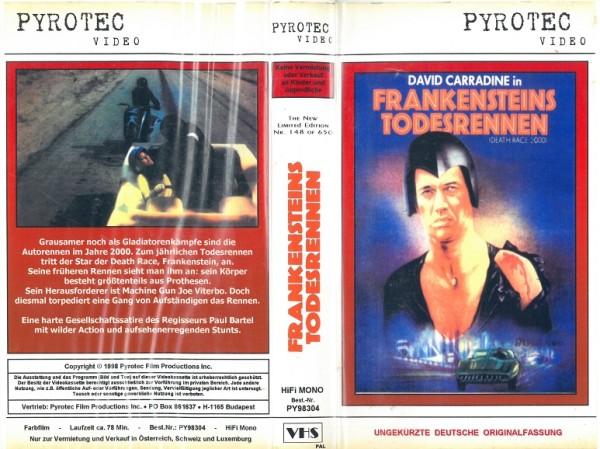 Frankensteins Todesrennen - Death Race 2000 (Pyrotec)