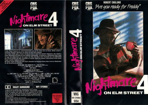 Nightmare on Elm Street 4 - The Dream Master - Einleger