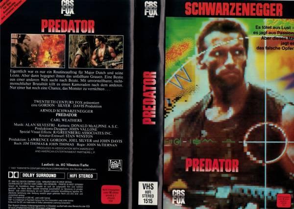 Predator - Einleger VHS