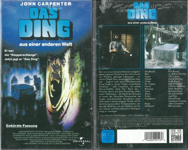 Ding aus einer anderen Welt, Das - The Thing (gekürzte Fassung, NEU, OVP)