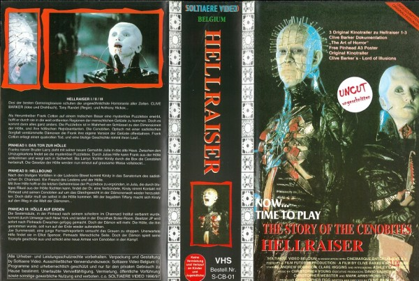 Hellraiser - The Story of the Cenobites (Teile 1 - 4 UNCUT) Solitaere Video Box set