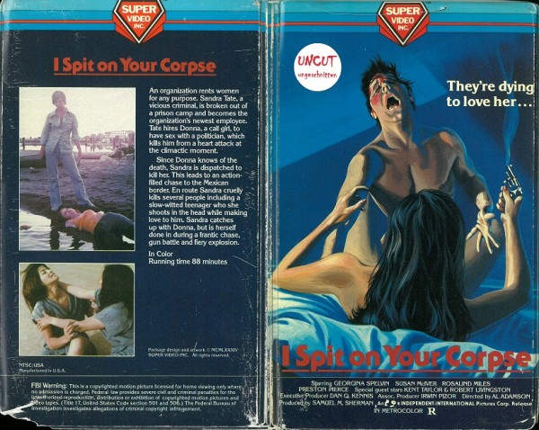 I spit on your corpse (Super Video USA Import)