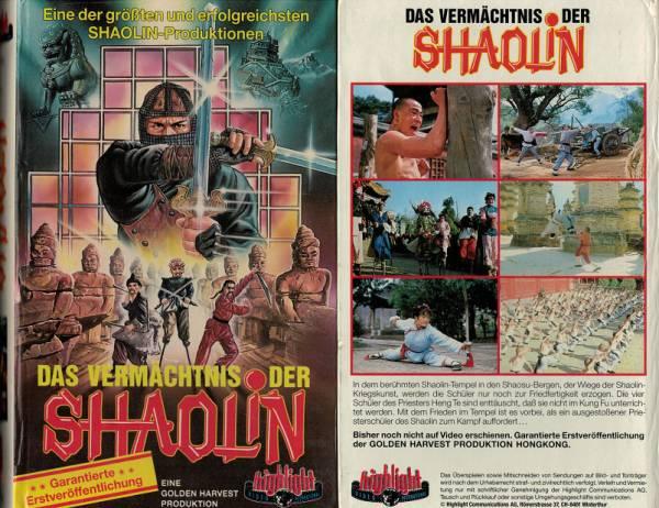 Vermächtnis der Shaolin, Das- Hartbox