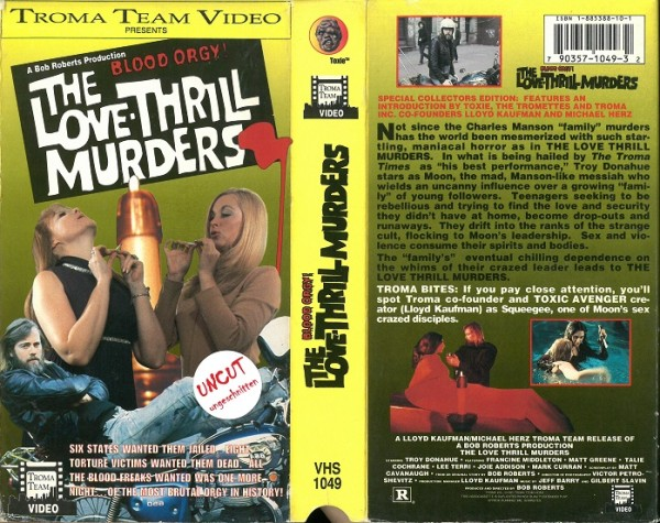 Love Thrill Murders, The - Hollywood Massaker (Troma Video US Import Pappschuber)