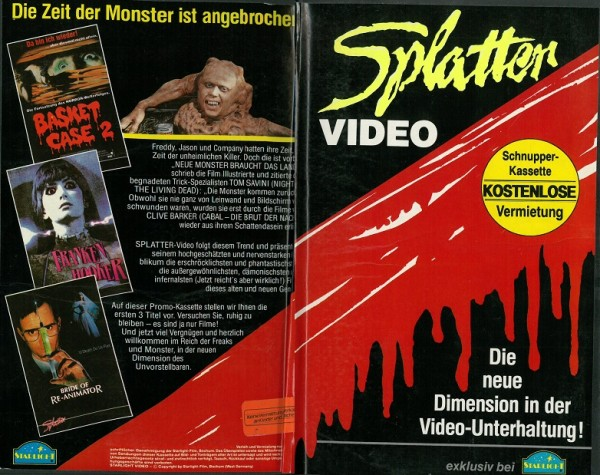 Splatter Video - Schnupperkassette 1/1991 (Hartbox)