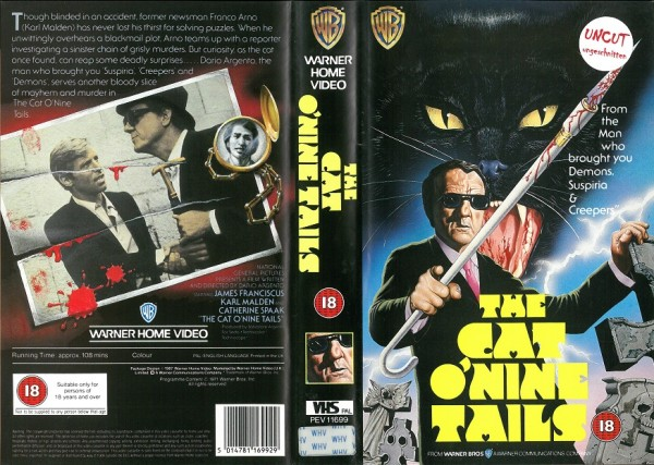 Cat O`nine tails, The - Die neunschwänzige Katze (Warner Home Video UK Import)