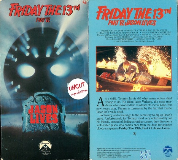Friday the 13. Part 6 / Freitag der 13. Teil 6 (USA Pappschuber)
