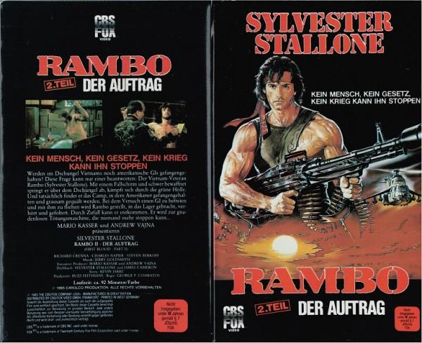 Rambo 2 - Der Auftrag (Softbox verschweisst)