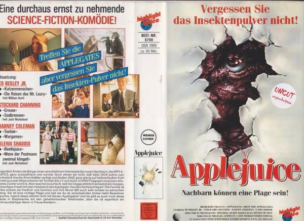 Applejuice - Nachbarn können eine Plage sein (Wendecover)